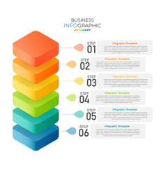 Isometric infographic design with 6 options vector