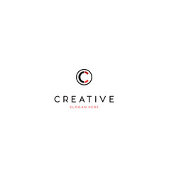 Letter c creative business logo design vector