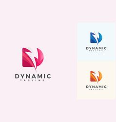 Letter d 3d creative dynamic logo vector