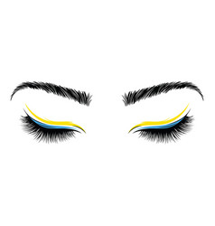 logo eyelashes the eyes girl with makeup vector image
