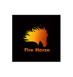logo fire horse company to develop high speed vector image