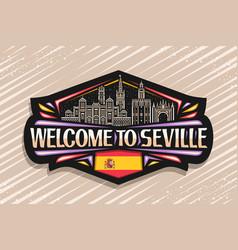 logo for seville vector image