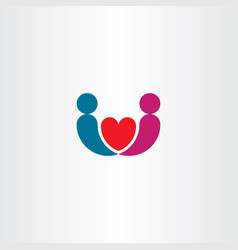 Man and woman marriage logo love icon vector