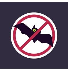 No Ban or Stop signs Halloween Bat icon vector