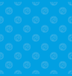 no parking sign pattern seamless blue vector image