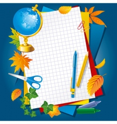 paper and pens vector image