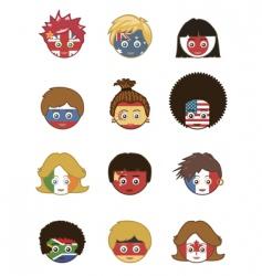 Patriotic faces vector