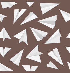 plane pattern travel concept with origami style vector image