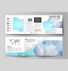 Polygonal texture global connections futuristic vector