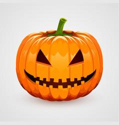 Pumpkin for halloween on white background vector