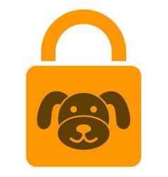 Puppy lock flat icon vector