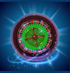 Realistic casino gambling roulette wheel cover vector