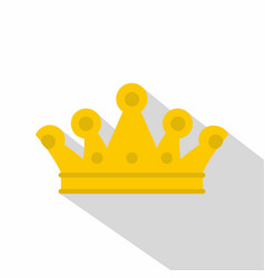royal crown icon flat style vector image