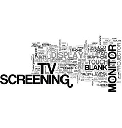 screening word cloud concept vector image