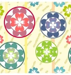 Seamless grunge flowers texture 513 vector image