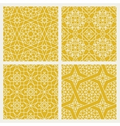 Seamless mosaic oriental patterns vector image