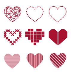 set heart vector image