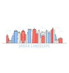 simple linear urban landscape vector image