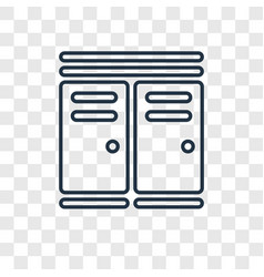 sportive lockers concept linear icon isolated on vector image