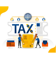 Tax relief and forgiveness fill taxes online vector