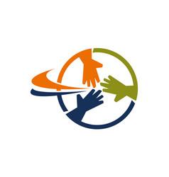 Teamwork business logo design template vector