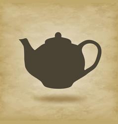 Teapot icon vector