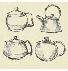 teapots modern vector image