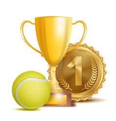 Tennis award sport banner background vector