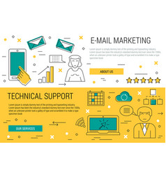 two thin lines banners - e-mail marketing vector image