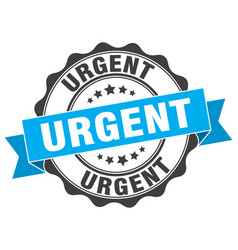 urgent stamp sign seal vector image