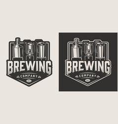 Vintage brewery label vector