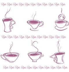 Vintage coffee labels vector image