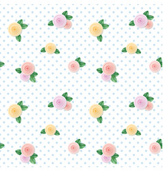 Vintage seamless pattern with colorful roses on vector
