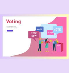 Voting and election concept pre-election campaign vector