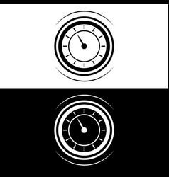 watch simple symbol in flat design monogram icon vector image