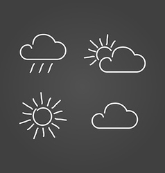 Weather set icons draw effect vector image