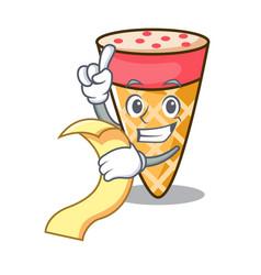 with menu ice cream tone mascot cartoon vector image