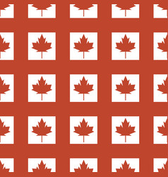 Canada country flag symbol maple leaf pattern vector