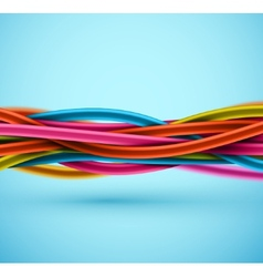 Closeup Electric Cable vector image vector image