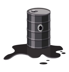 Metal barrel with oil icon cartoon style vector