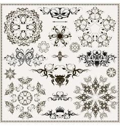 set of elegant calligraphic design elements vector image vector image