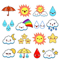 collection of unusual cartoon and funny smiley vector image
