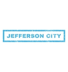 Jefferson City Rubber Stamp vector image vector image
