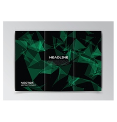Black template of booklet with abstract elements vector image vector image