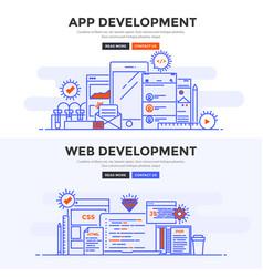 flat design concept banner - app development and vector image vector image