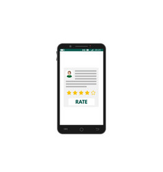 mobile smartphone app rating vector image