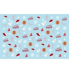 Winter Pattern new year red monkey vector image vector image