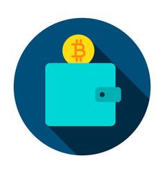 bitcoin wallet circle icon vector image vector image
