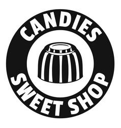 candies sweet shop logo simple black style vector image vector image