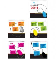 mouse calendar 2011 vector image vector image